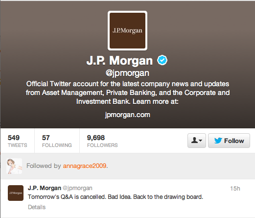 Good call, JPMorgan, good call.