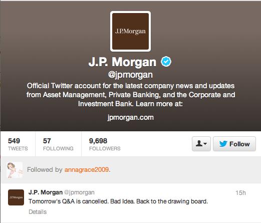 Good call, JPMorgan, good call.